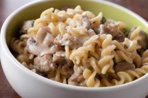 creamy-mushroom-and-sausage-pasta