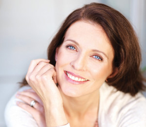 Portrait of a lovely mature woman smiling